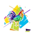 Abstract bright rooster Sign of 2017 vector image vector image