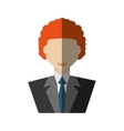 businessman avatar elegant islated icon vector image