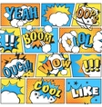 Comic style boom effect sound in pop art vector image
