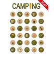 Camping icons Flat vector image