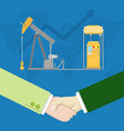 oil industry production partnership vector image