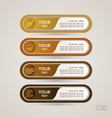 Sticker Label coffee set vector image vector image
