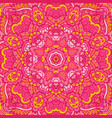 pink flower mandala pattern ornamental background vector image
