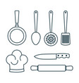 colorful kitchenware design vector image