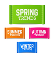 Spring summer autumn and winter trends vector image vector image