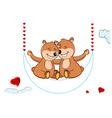 Valentine's teddy bears vector image