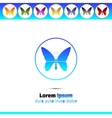 Simple round icons with butterfly vector image