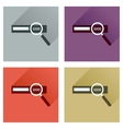 Concept of flat icons with long shadow find money vector image