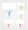 paper men vector image