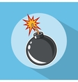 Bomb explosion pop art comic design vector image