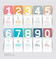 business brochures template paper folding style vector image