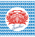 Crab sign vector image