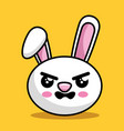 cute rabbit character kawaii style vector image