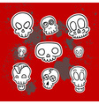 cute sketchy skulls vector image