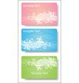 floral card for design vector image