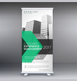 geometric roll up banner design template for your vector image