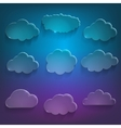 Glossy cloud storage icon set vector image