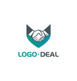 handshake logo for business vector image