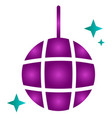 isolated disco ball vector image