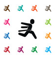 isolated running icon winner element can vector image