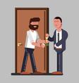 man rent accommodation vector image