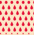 seamless pattern with red drops vector image