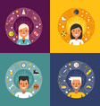 Set of in Flat Design Style Sport Icons and vector image