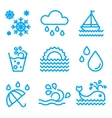 Water And Drop Icons Set vector image