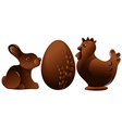 Easter chocolate figures vector image
