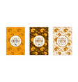 set of seamless pattern and labels for cheese vector image
