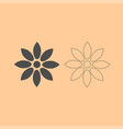 flower dark grey set icon vector image