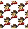 Cowboy seamless pattern vector image vector image