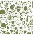 Floral pattern sketch for your design vector image vector image