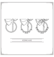 Icons Fantasy Axe Lineart vector image