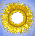 Square frame with sunflowers Vector Image