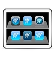 Add to cart blue app icons vector image