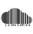 cloud of barcode vector image