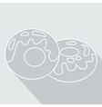 donut icon with glaze eps 10 vector image