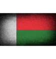 Flag of Madagascar with old texture vector image