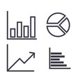 graphs line icon sign on vector image