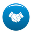 hand peace icon blue vector image