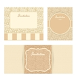 Invitation cards set vector image