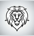 lion head logo template design vector image
