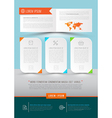Modern abstract brochure report document vector image