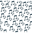 music notes pattern background vector image