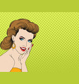 pretty pop art girl vector image