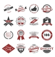 quality guarantee emblems and labels vector image