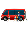 Van and family vector image