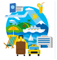 travel and resort vector image vector image