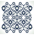 arabesque vintage ornate border elegant floral vector image